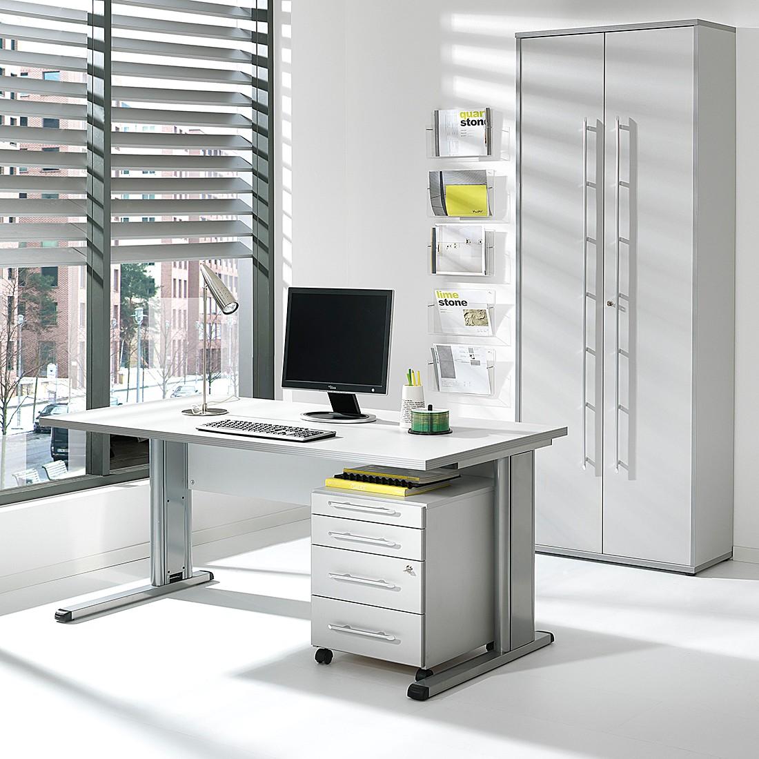Büro-Set Kirk VI (3-teilig) – Hellgrau, Wellemöbel günstig online kaufen
