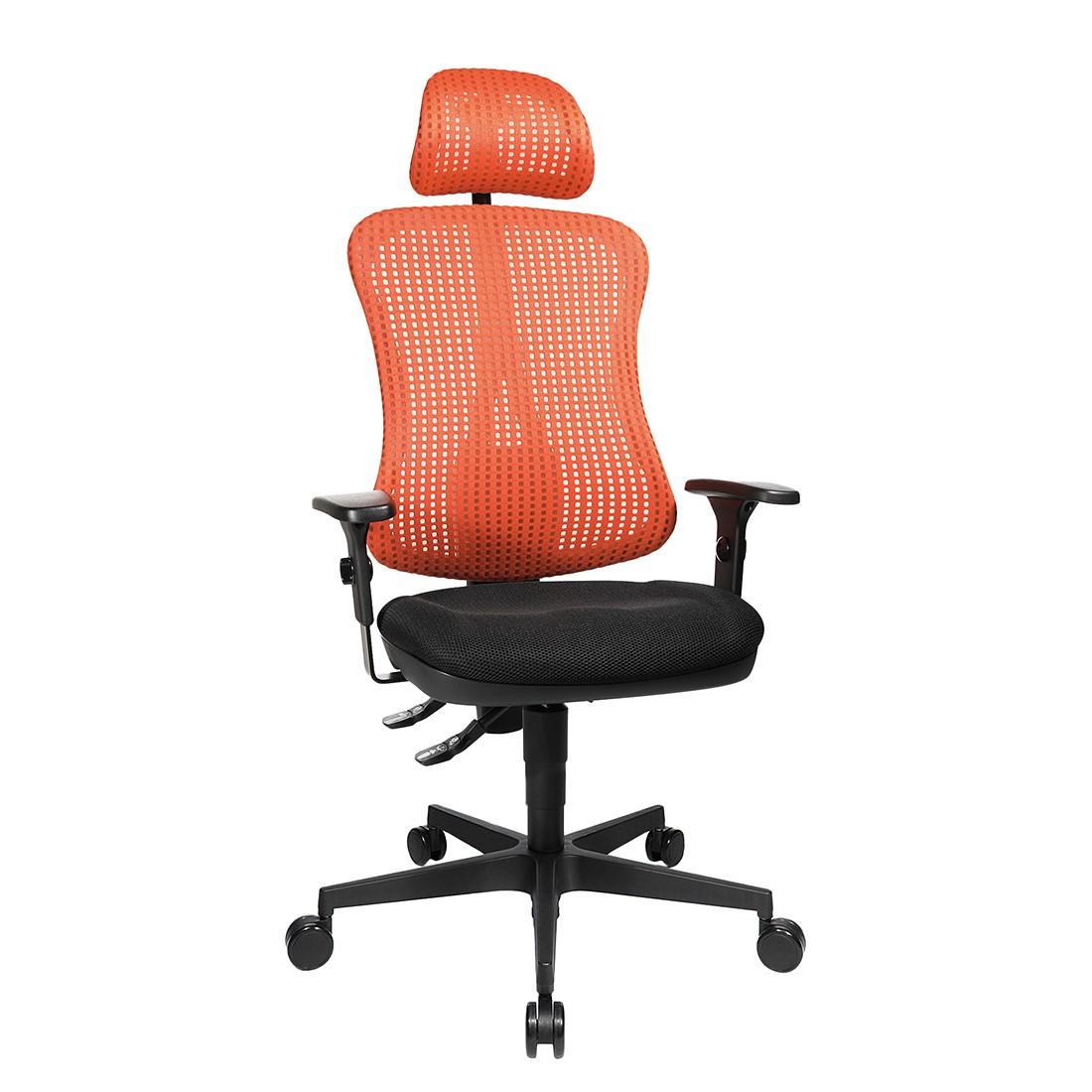 Bürodrehstuhl Head Point – Höhenverstellbare Armlehnen – Mit Kopfstütze – Rot / Schwarz, Topstar günstig kaufen