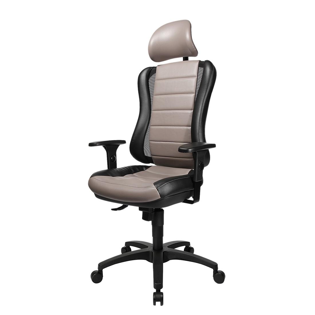 Bürodrehstuhl Head Point RS – Schwarz/Grau, Topstar günstig