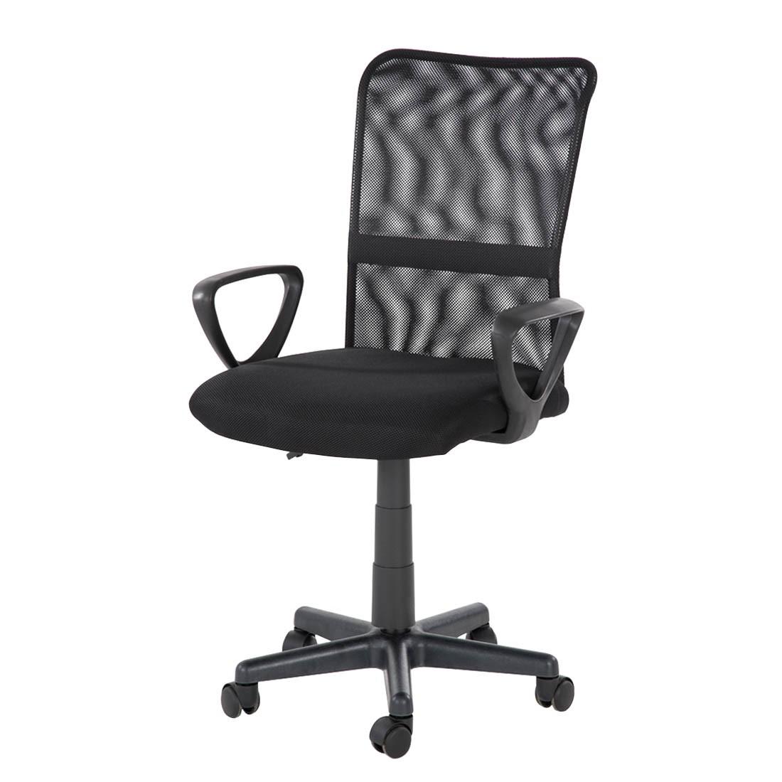 Bürodrehstuhl Jason – Textilbezug – Schwarz, home24office günstig bestellen