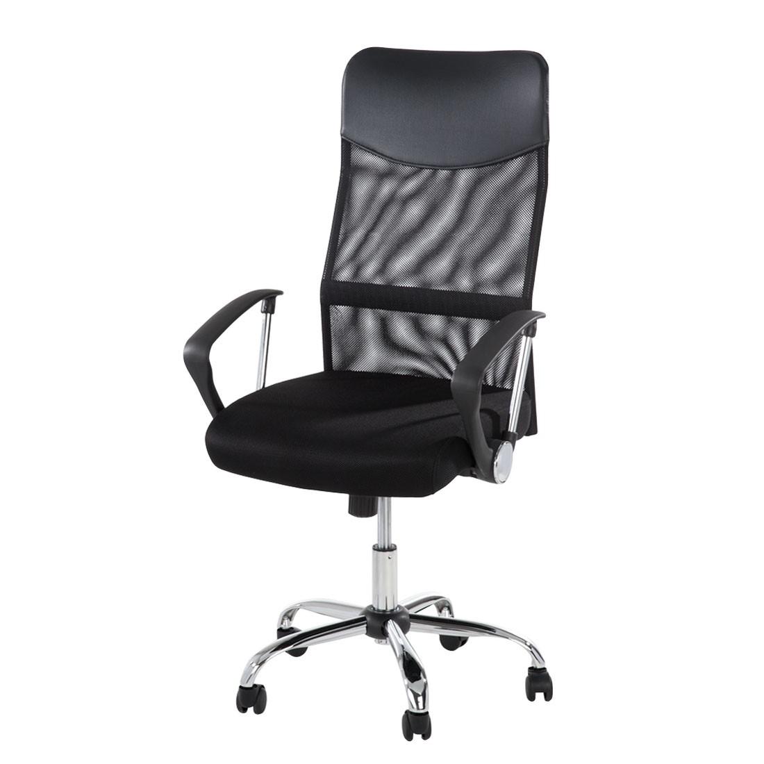 Bürodrehstuhl Matt – Textilbezug – Schwarz, home24office günstig kaufen