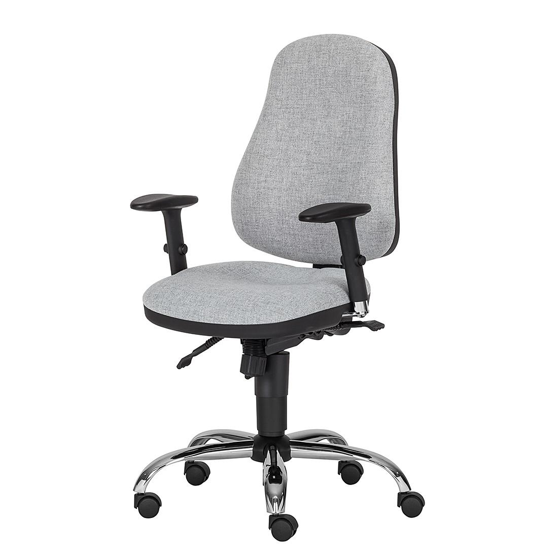 Bürodrehstuhl Offix – Webstoff – Hellgrau, Nowy Styl online kaufen