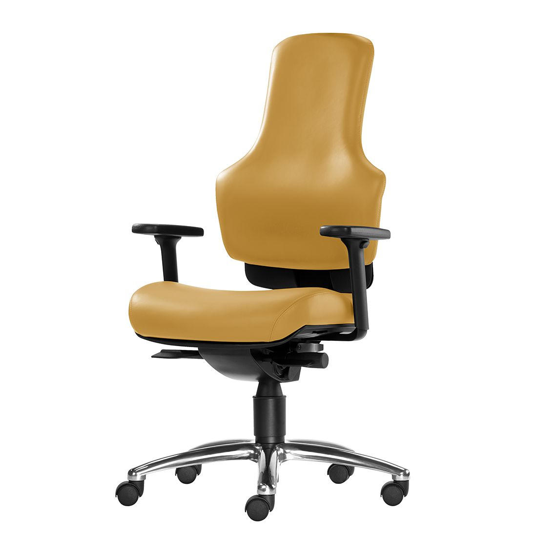 Bürodrehstuhl Ortholetic Balance II – Ohne Kopfstütze – Ocker, 1000 Stühle Gernot-M. Steifensand günstig online kaufen