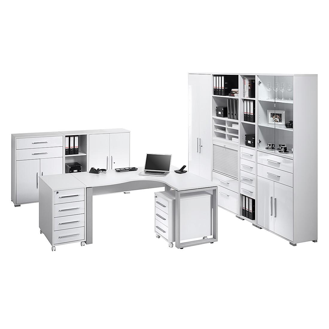 Bürosparset Merit IX (10-teilig) – Icy Weiß/Hochglanz Weiß, Maja Möbel günstig kaufen