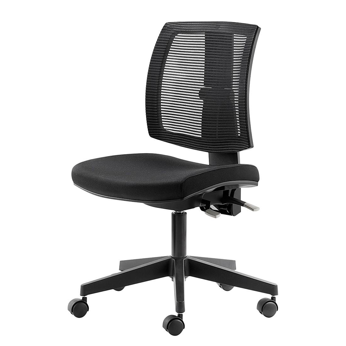 Chaise de bureau grazie noir home24office - Chaise de bureau noir ...