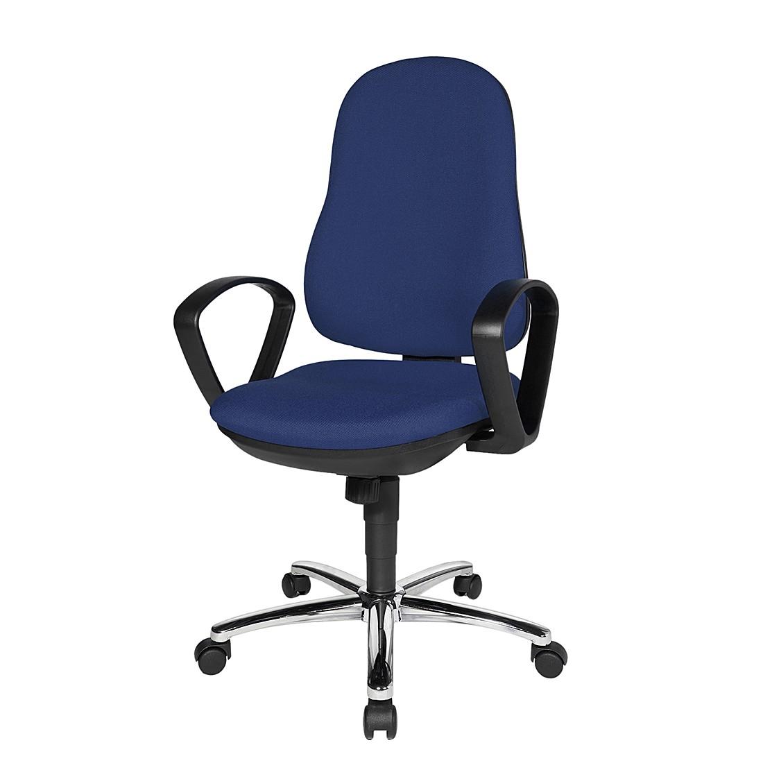 Bürostuhl Syncro Steel – Textilbezug – Blau/Schwarz, Topstar kaufen