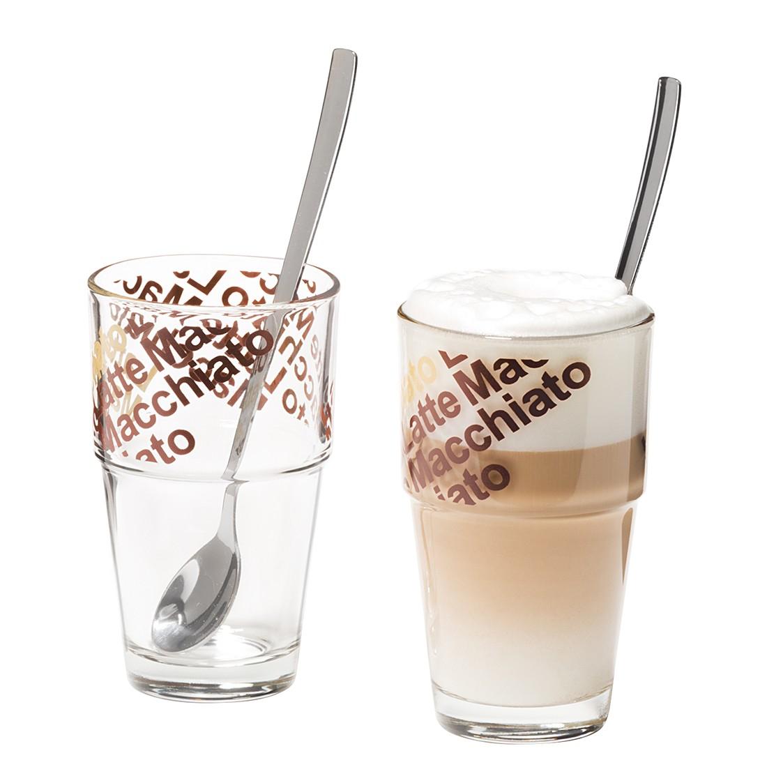 Café Latte Glas Solo (4er-Set) – Mit Löffeln, Leonardo günstig bestellen