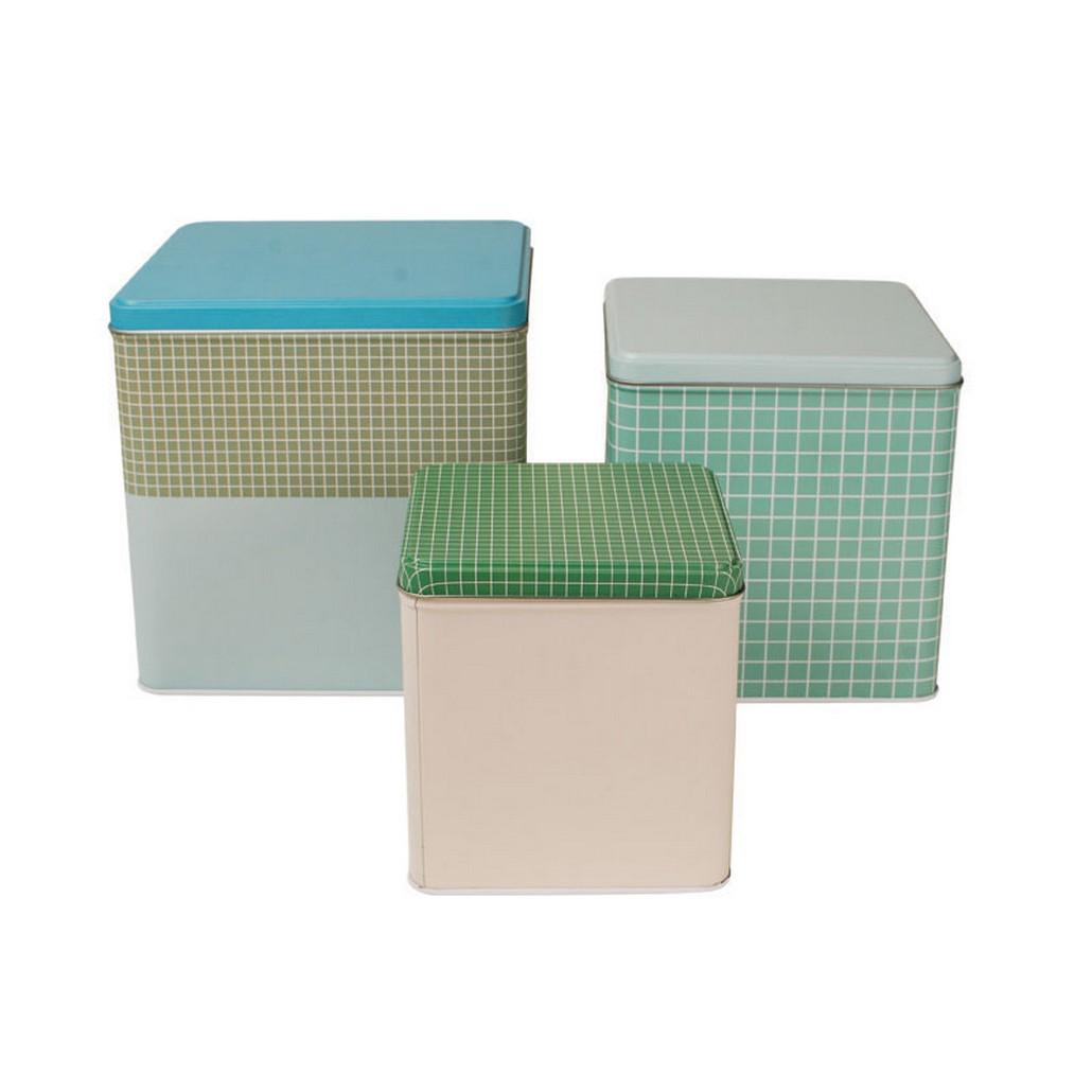 Cake Tins Design Square – Metall – verzinnter Stahl – Mix Von Farben und Muster, Aspegren Denmark günstig bestellen