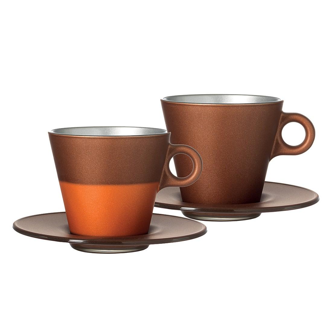 Cappuccinotasse Ooh Magico (2er-Set) – Braun Metallic, Leonardo günstig online kaufen