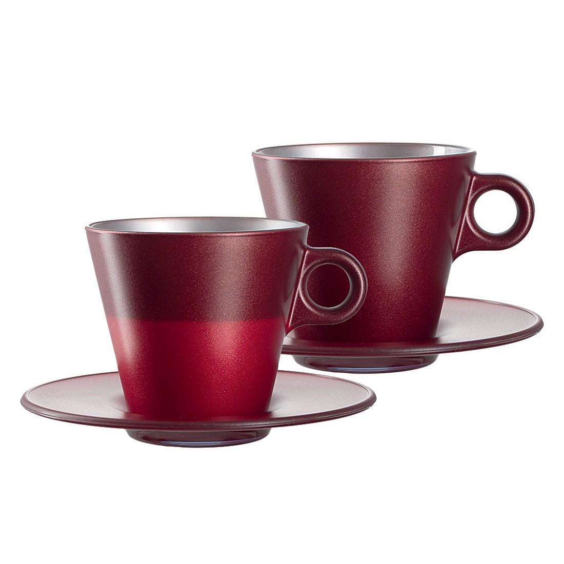 Cappuccinotasse Ooh Magico (2er-Set) – Rot Metallic, Leonardo online kaufen