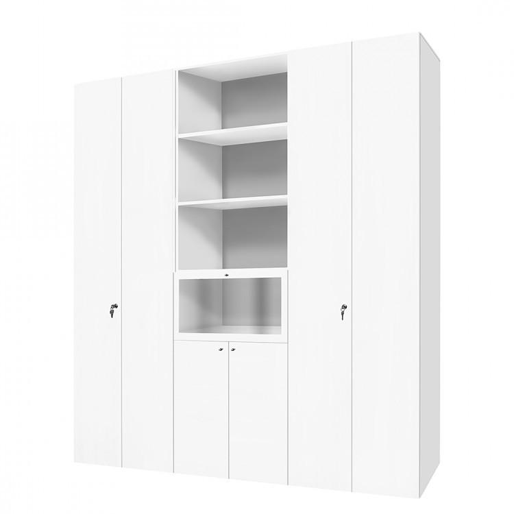 Schranksystem Carry - 6 Ordnerhöhen - abschließbar - Weiß (Carry Schranksystem 6 Ordnerhöhen - abschließbar - weiß)