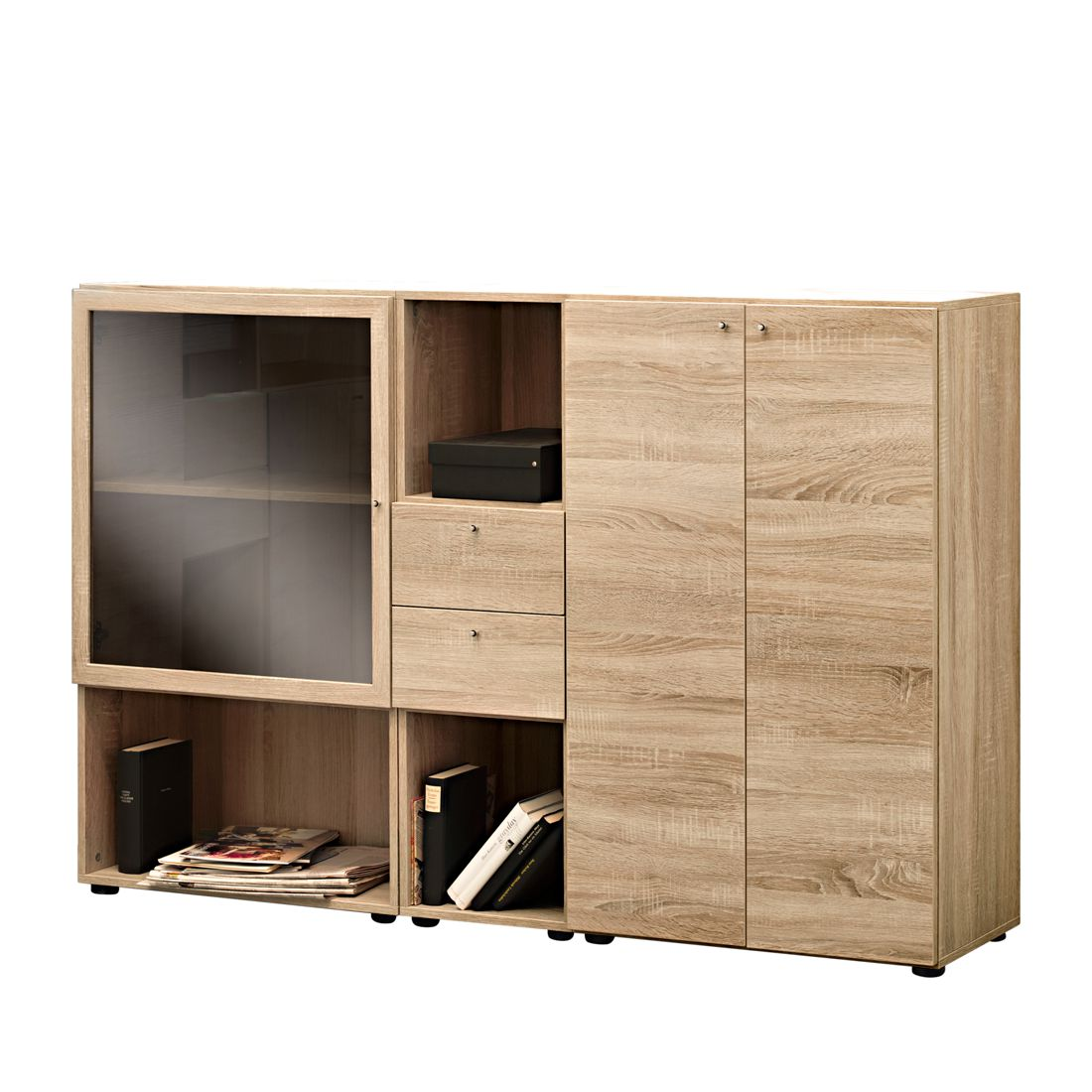 sideboard carry 3 ordnerh hen eiche dekor arte m online kaufen. Black Bedroom Furniture Sets. Home Design Ideas