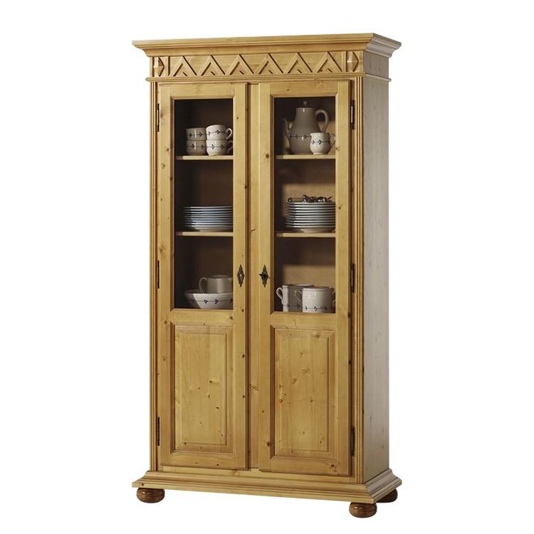 vitrinenschrank cesenatico fichte massiv. Black Bedroom Furniture Sets. Home Design Ideas