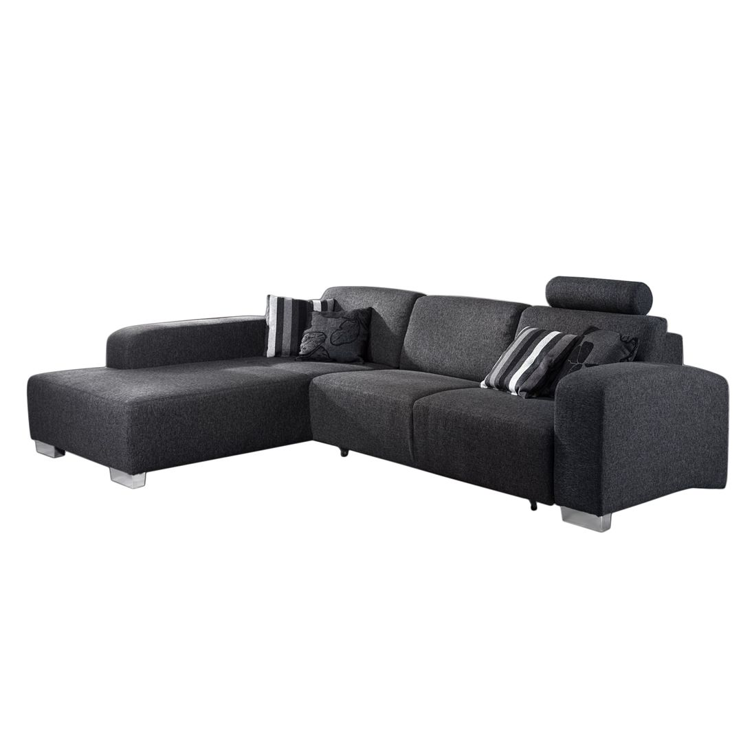 ecksofa chamb ry webstoff schwarz anthrazit longchair. Black Bedroom Furniture Sets. Home Design Ideas