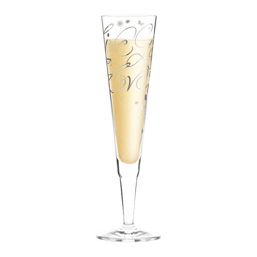 Champagnerglas mit Serviette Champus – 200 ml – Design Annett Wurm – 2013 – 1070198, Ritzenhoff günstig kaufen