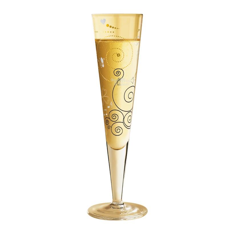 Champagnerglas mit Serviette Champus – 200 ml – Design Kathrin Stockebrand – 2012 – 1070191, Ritzenhoff jetzt kaufen