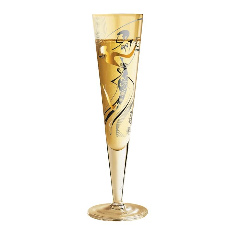 Champagnerglas mit Serviette Champus – 200 ml – Design Michal Shalev – 2010 – 1070162, Ritzenhoff jetzt bestellen