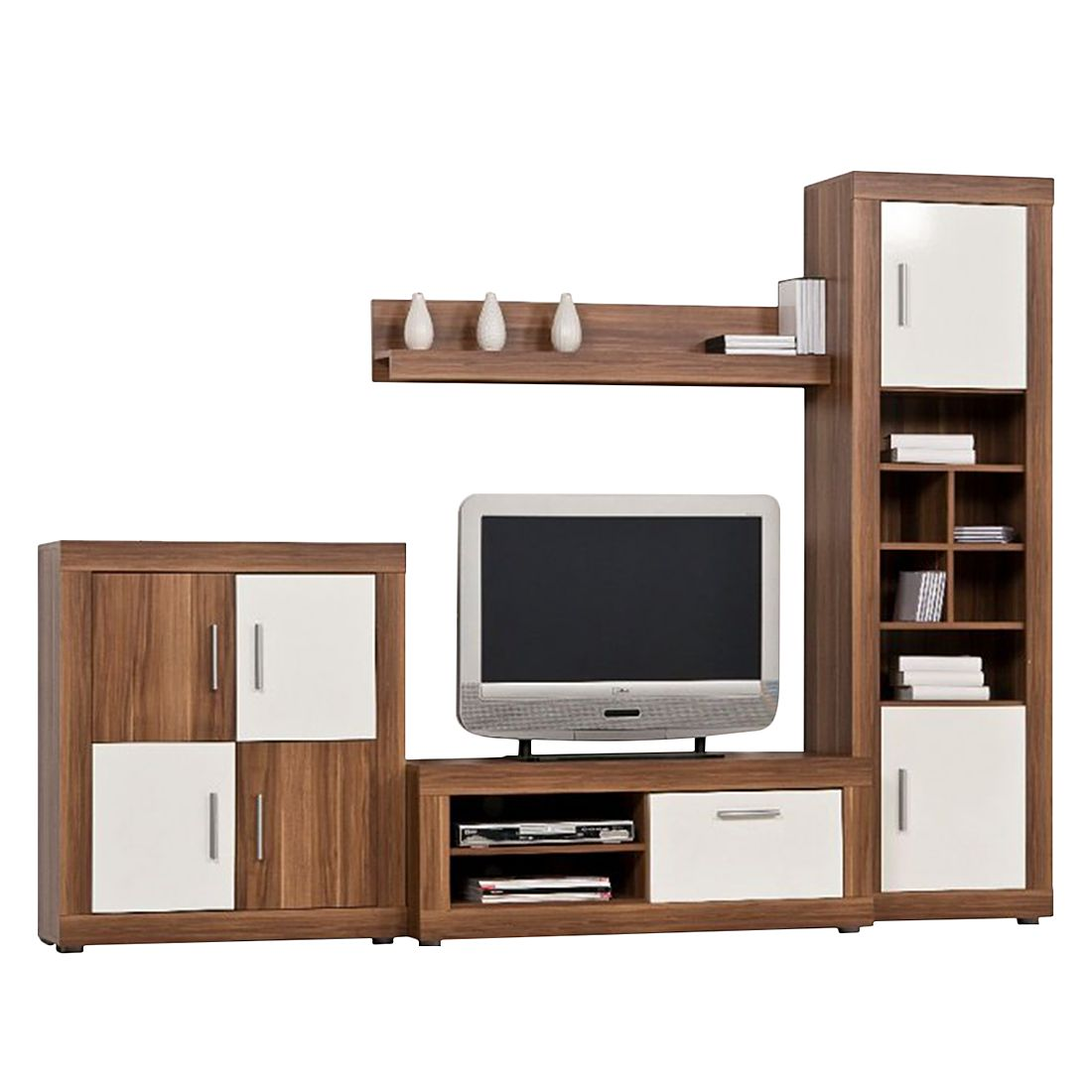 wohnwand echtholz nussbaum neuesten design kollektionen f r die familien. Black Bedroom Furniture Sets. Home Design Ideas