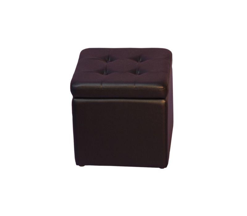 Sitzwürfel Classic – Kunstleder Schwarz, Home Design günstig