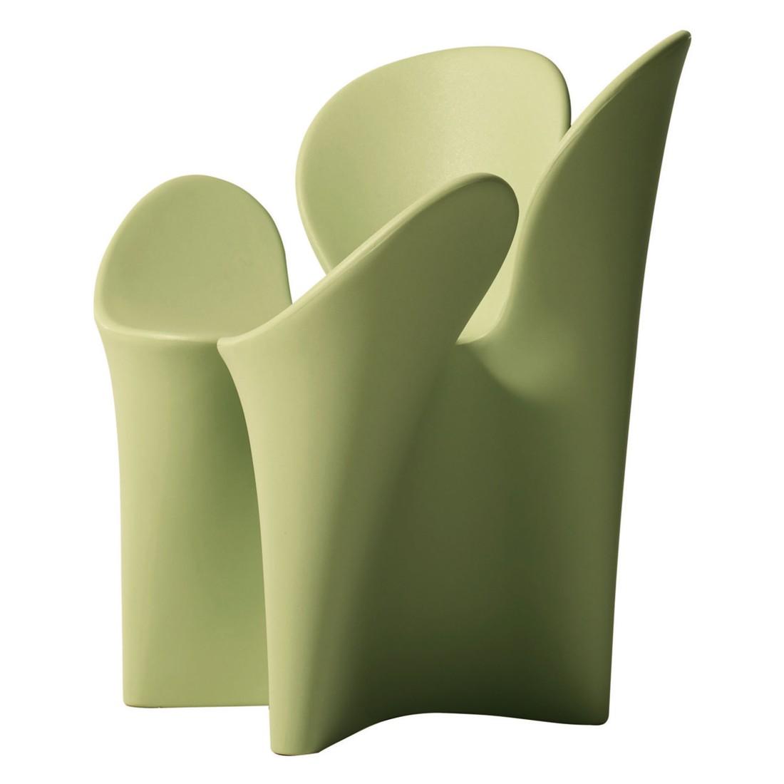 Armlehnenstuhl Clover - Polyethylen Grün, Driade