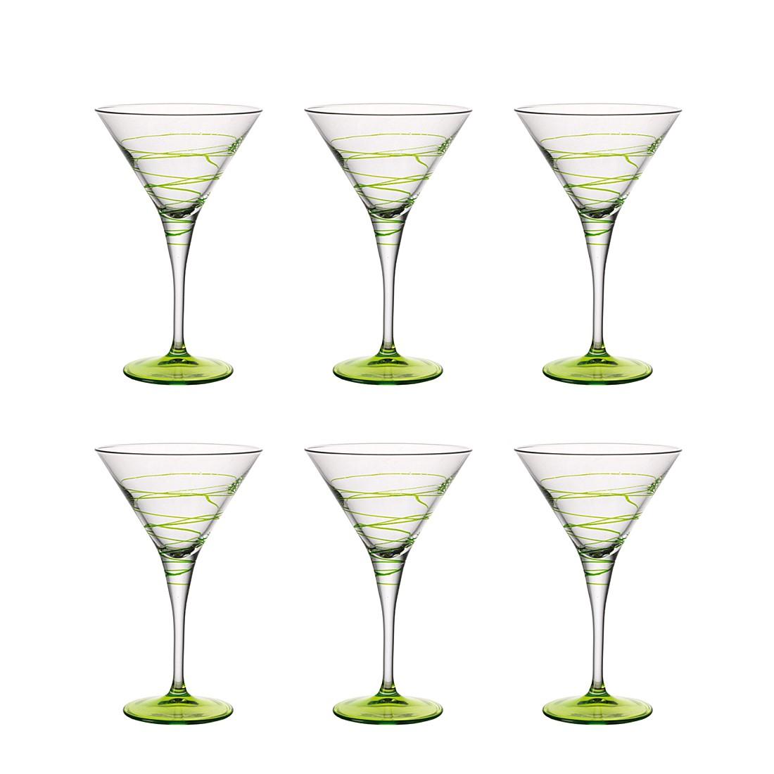 Cocktailschale Spirale (6er-Set) – Grün, Leonardo online kaufen