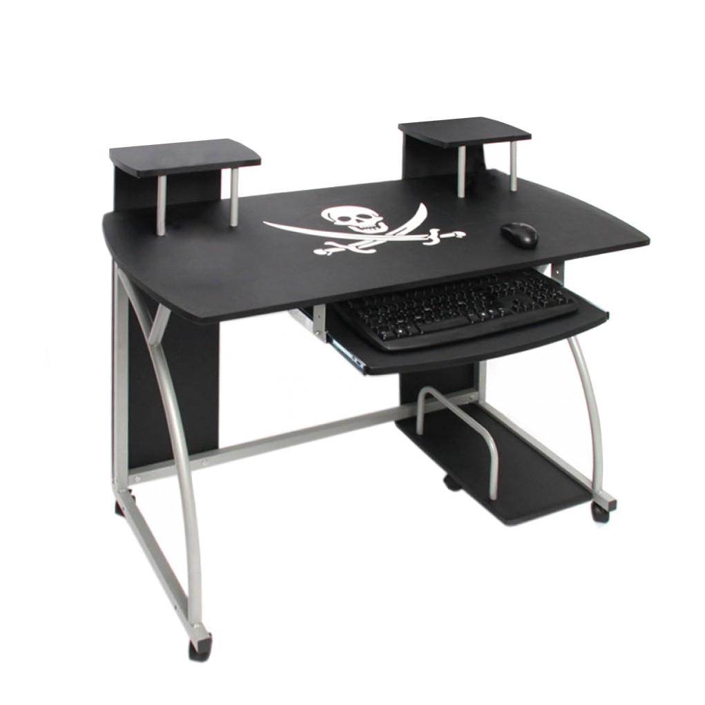 computertisch b rotisch ohio schwarz mendler. Black Bedroom Furniture Sets. Home Design Ideas