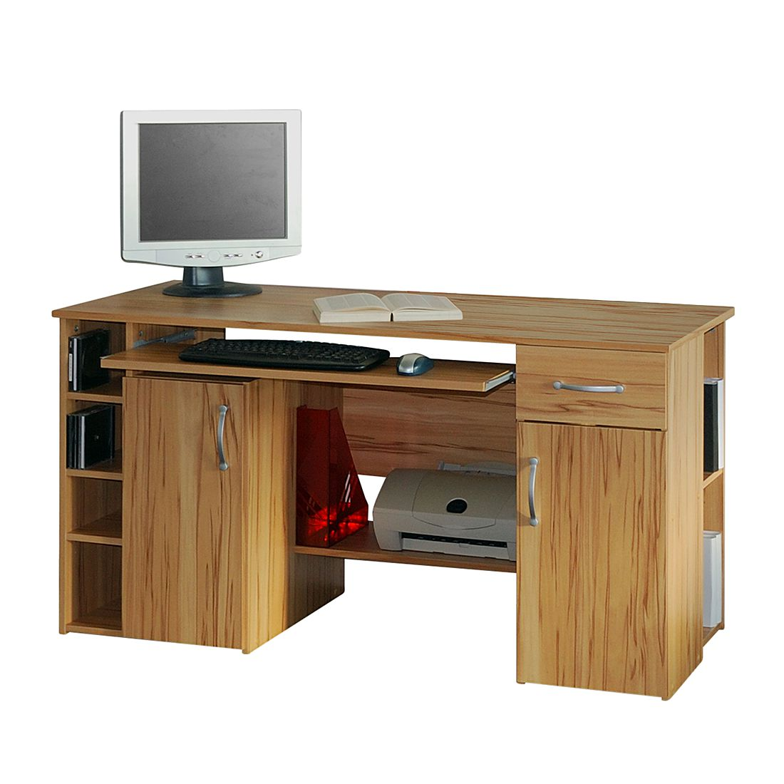 Computertisch jasper kernbuche dekor home24office g nstig for Kernbuche computertisch