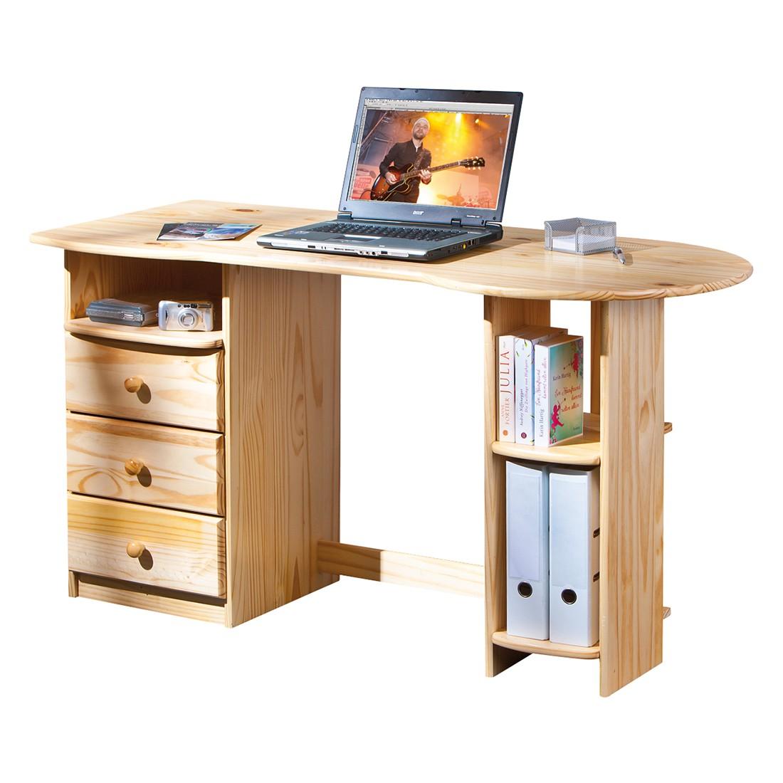 Computertisch Touchround - Massivholz, 3 Schubladen, Lars Larson