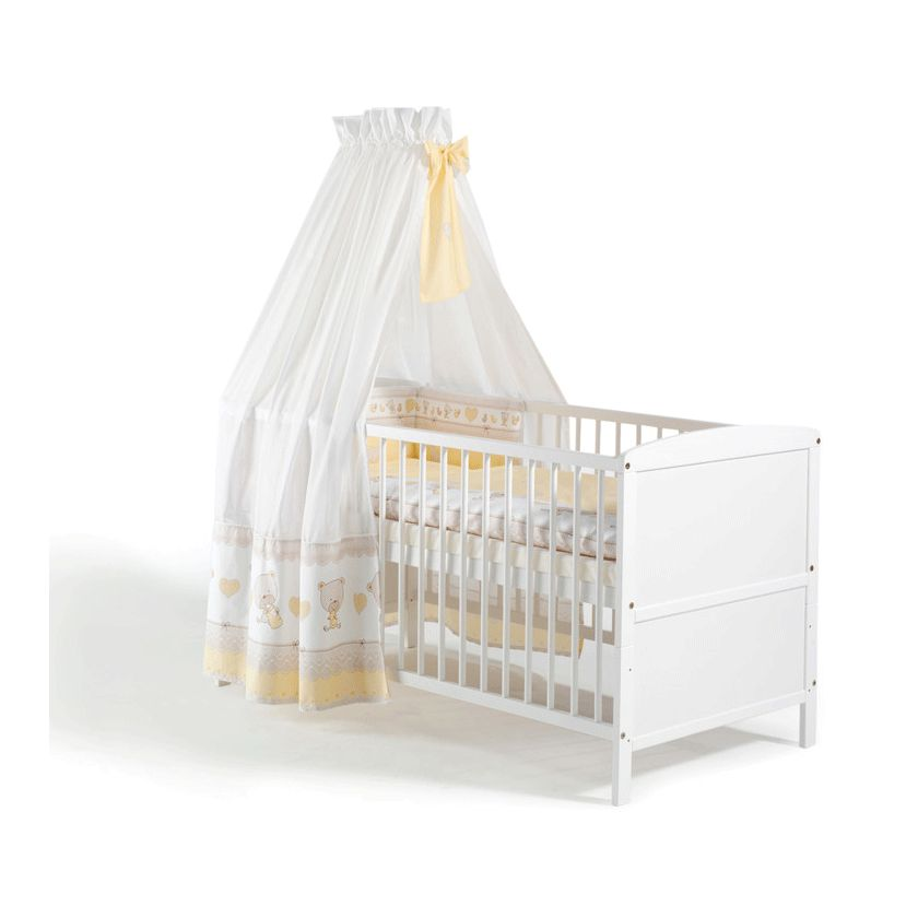 Komplettbett Conny (4-teilig) – Weiß lackiert – Inklusive Textilset Teddy, Schardt kaufen