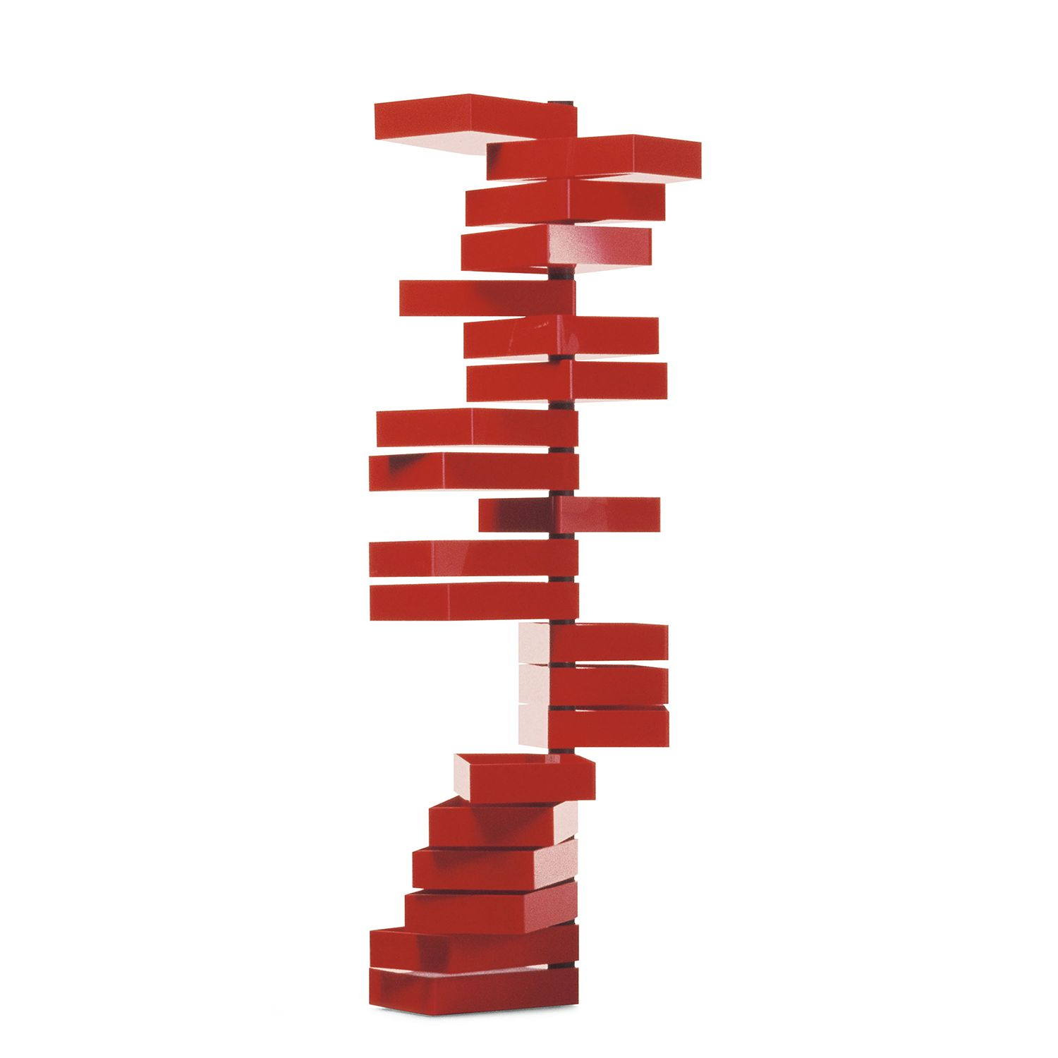 Container Revolving Cabinet - Acryl - Rot, Cappellini
