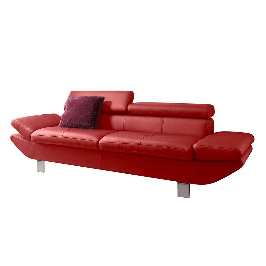 sofa fries 2 sitzer kunstleder rot cotta online bestellen. Black Bedroom Furniture Sets. Home Design Ideas