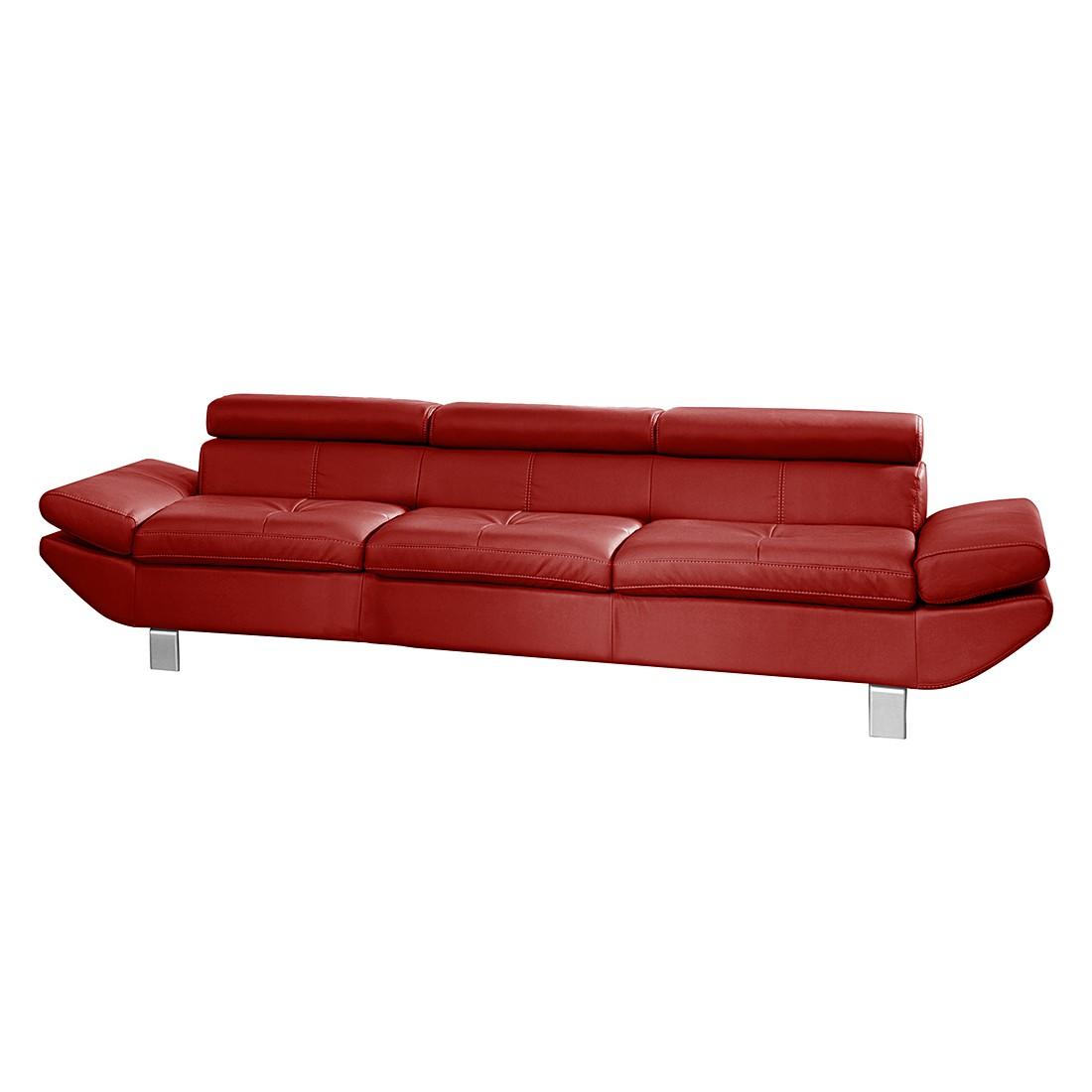 Sofa Fries (3-Sitzer) – Kunstleder Rot, Cotta jetzt bestellen