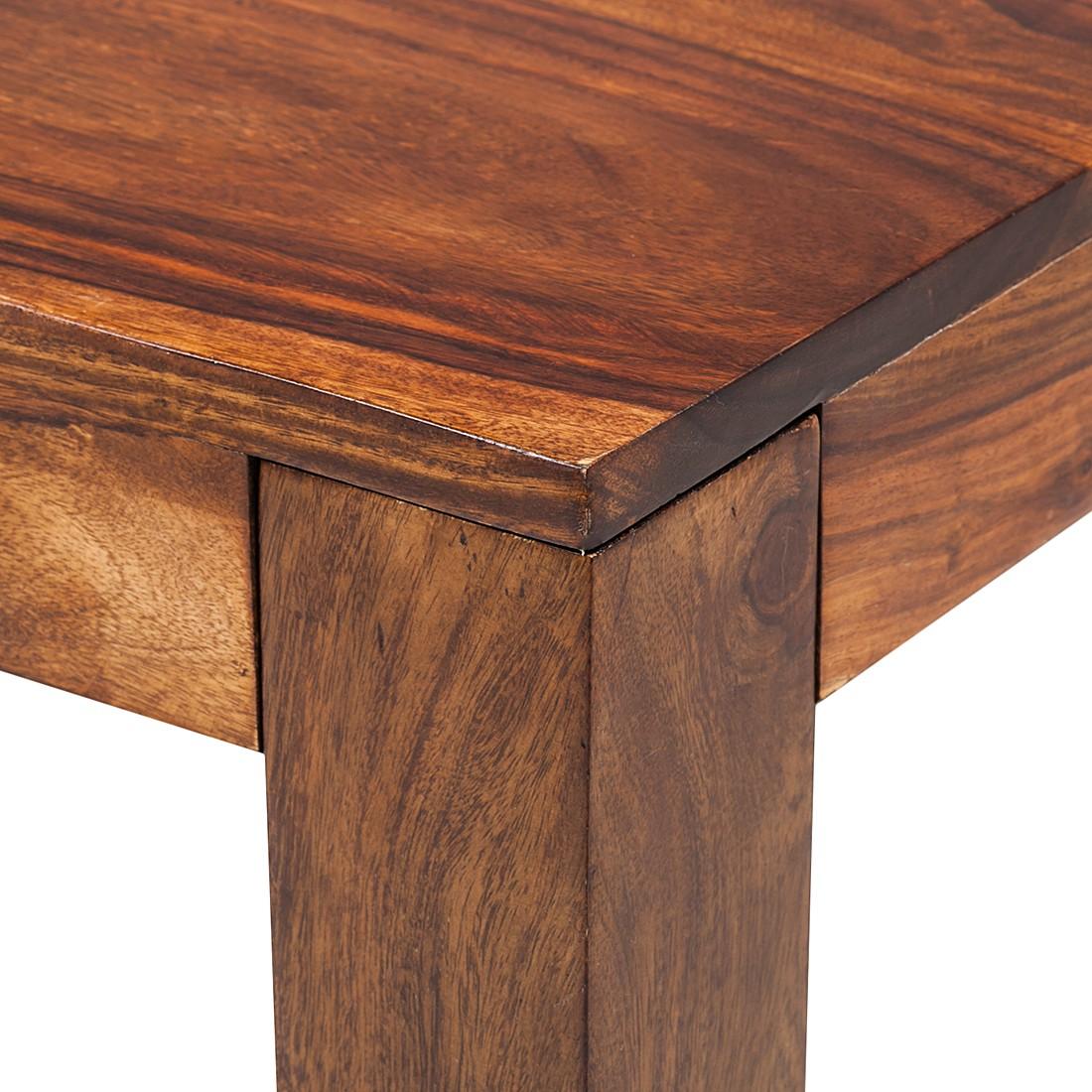 ars natura couchtisch sheesham massiv honigfarben beistelltisch sofatisch ebay. Black Bedroom Furniture Sets. Home Design Ideas