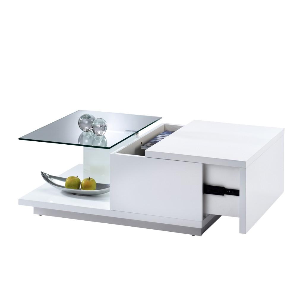 finebuy design holz couchtisch living 130 ausklappbar wei hochglanz g nstig kaufen. Black Bedroom Furniture Sets. Home Design Ideas