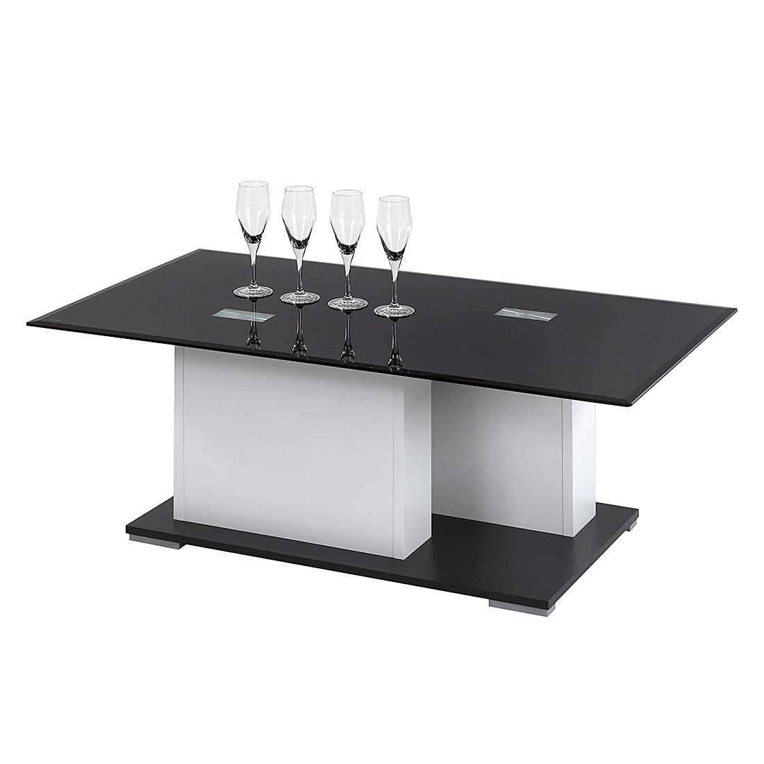 Couchtisch Burgio – Weiß/Schwarzglas, mooved jetzt bestellen
