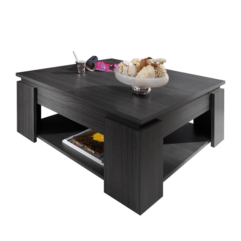 table basse en bois avec range revues ellinor. Black Bedroom Furniture Sets. Home Design Ideas