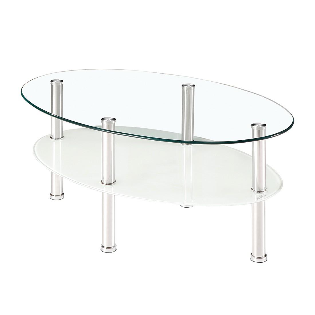 Couchtisch Iola – Klarglas/Weißglas, mooved jetzt kaufen
