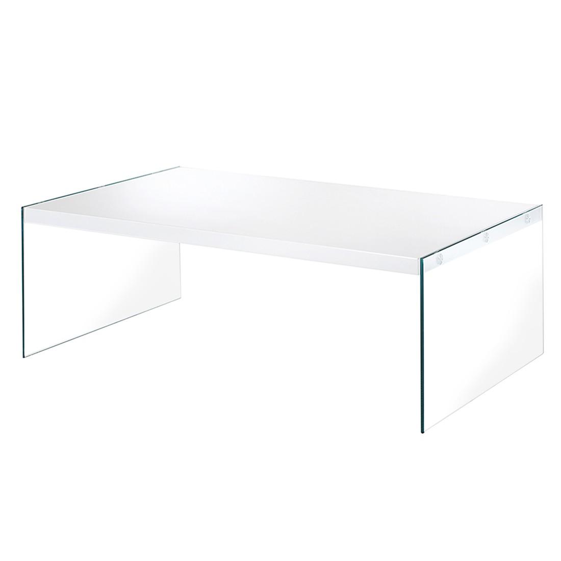 Couchtisch Savoie I – Klarglas/Hochglanz Weiß, Home Design online kaufen