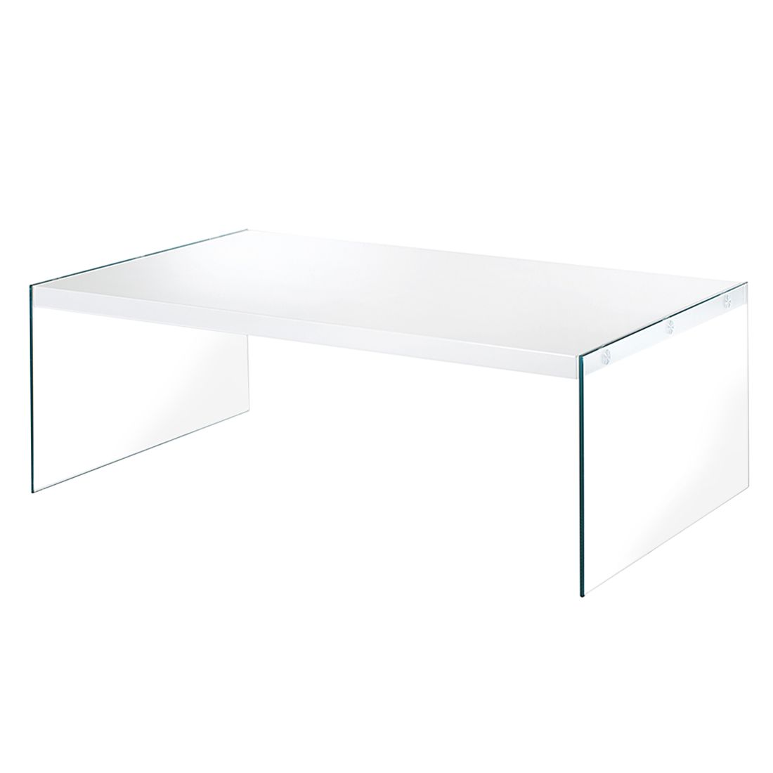 Salontafel glashoogglans wit 60x110cm aspect design in de for Aspect design