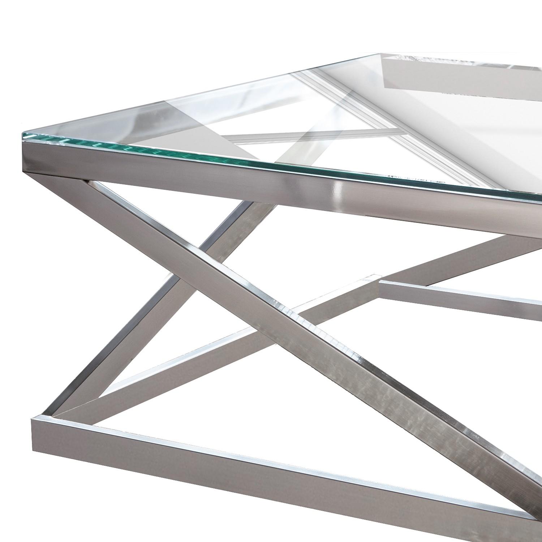 couchtisch sawl metall glas silber beistelltisch. Black Bedroom Furniture Sets. Home Design Ideas