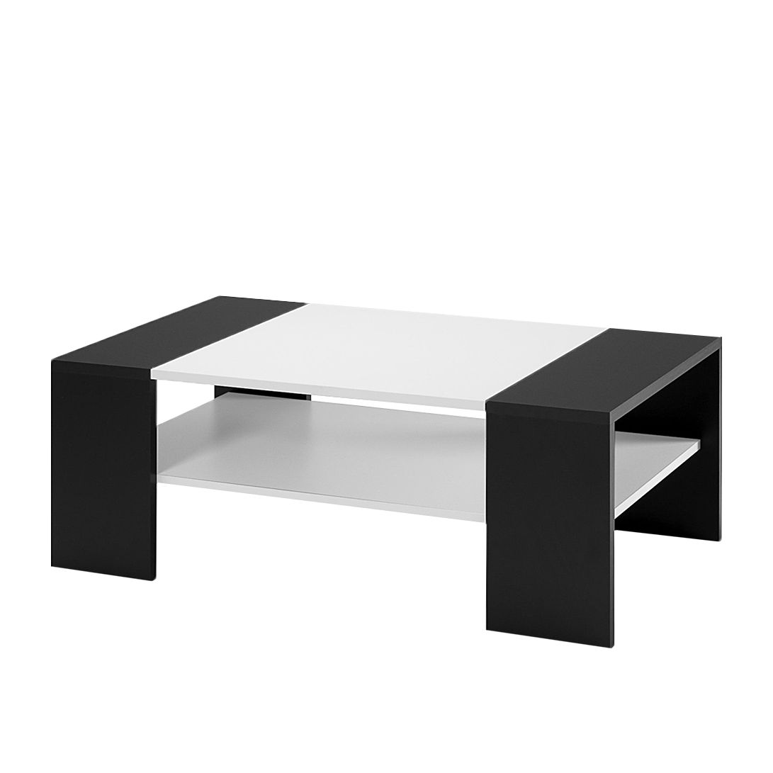 Table basse spike noir et blanc mooved for Table basse blanc et noir