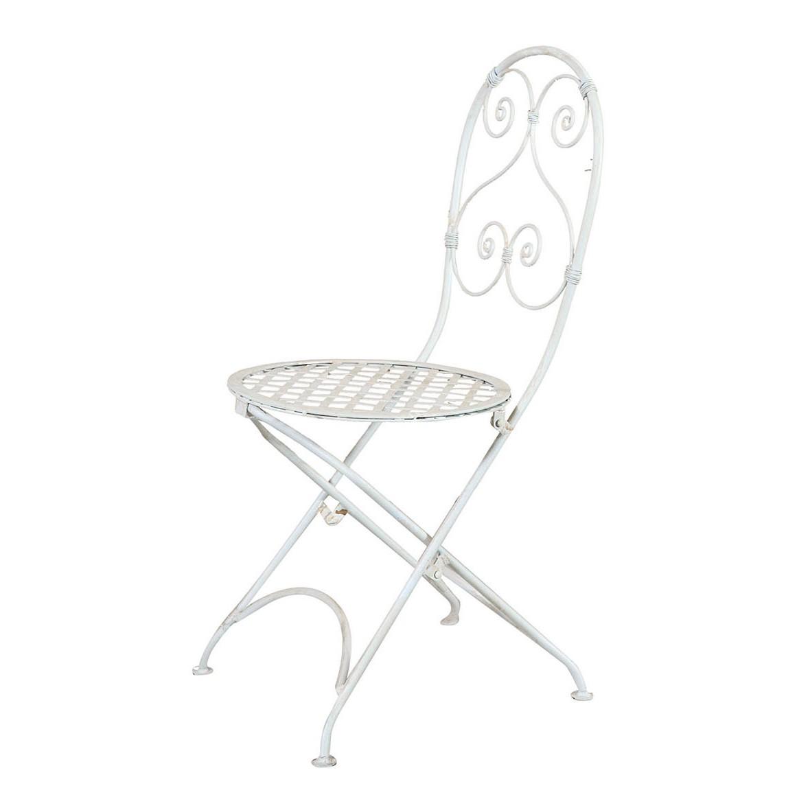 Gartenstuhl Paisley II - Eisen - Weiß, Luissant