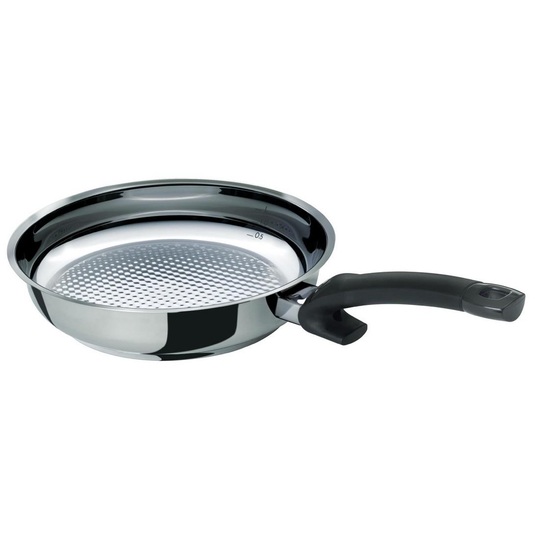 Pfanne Crispy Steelux Comfort – 28 cm, silber, Fissler bestellen