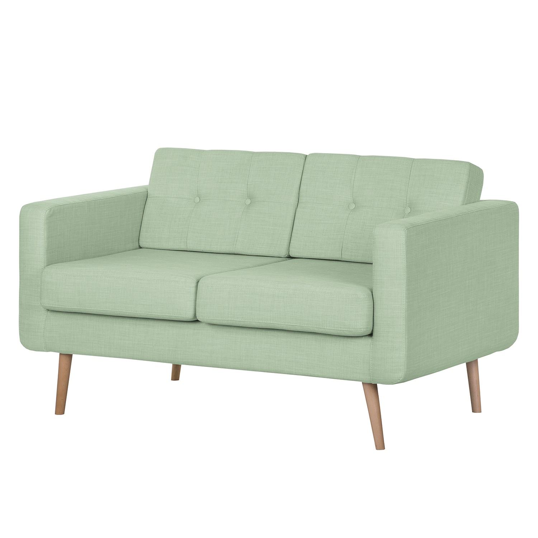 Sofa Aira I (2-Sitzer) – Webstoff – Pastellgrün, kollected by Johanna günstig kaufen