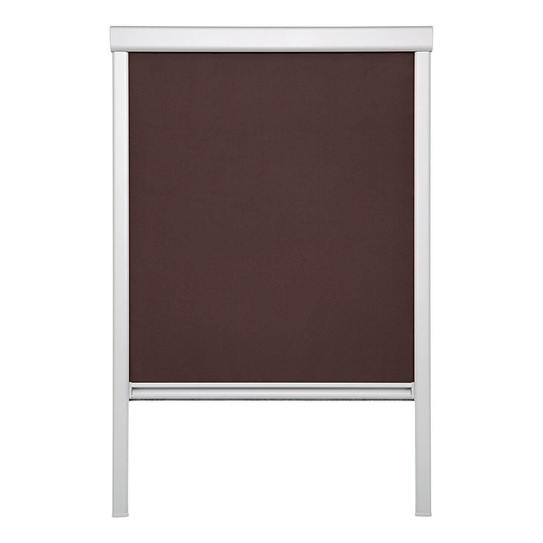 Dachfensterrollo, verdunkelnd – Polyester, Aluminium, Braun – (H x B): 54 x 38,3 cm, Wohn-Guide jetzt bestellen