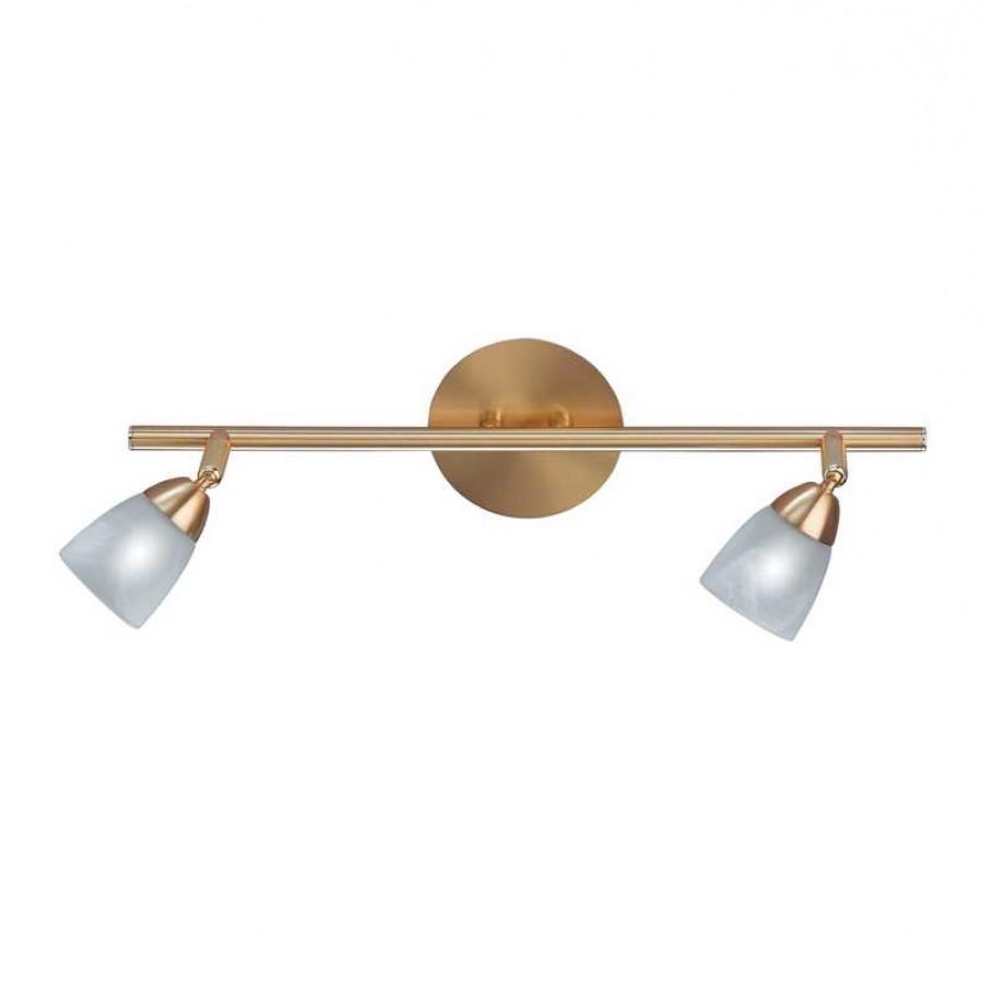 deckenleuchte arccardia 2 flammig dreh und schwenkbar metall glas messing matt wei paul. Black Bedroom Furniture Sets. Home Design Ideas