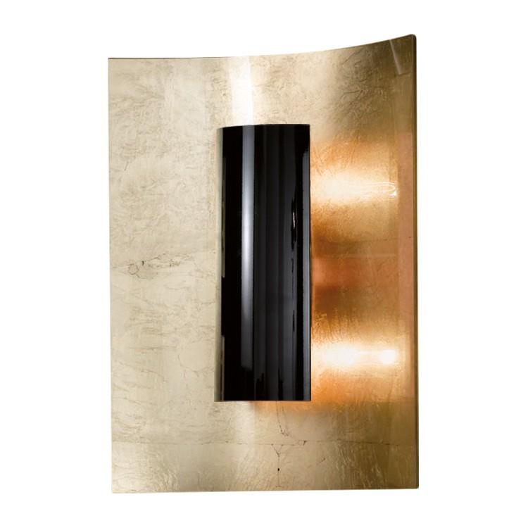deckenleuchte aura gold 30 cm metall glas gold schwarz 2 flammig hans k gl a jetzt kaufen. Black Bedroom Furniture Sets. Home Design Ideas
