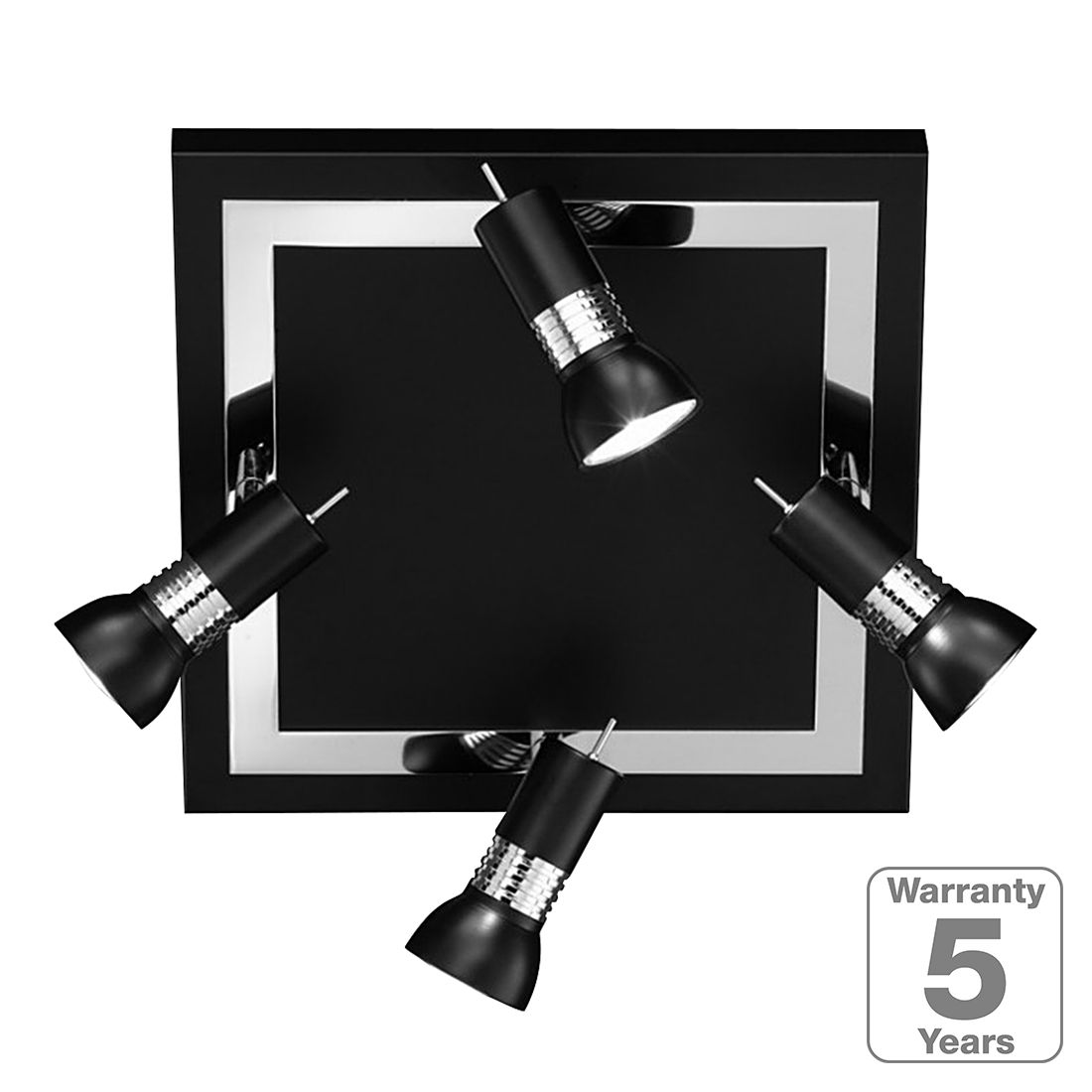 preisvergleich eu deckenleuchte 4 flammig schwarz. Black Bedroom Furniture Sets. Home Design Ideas