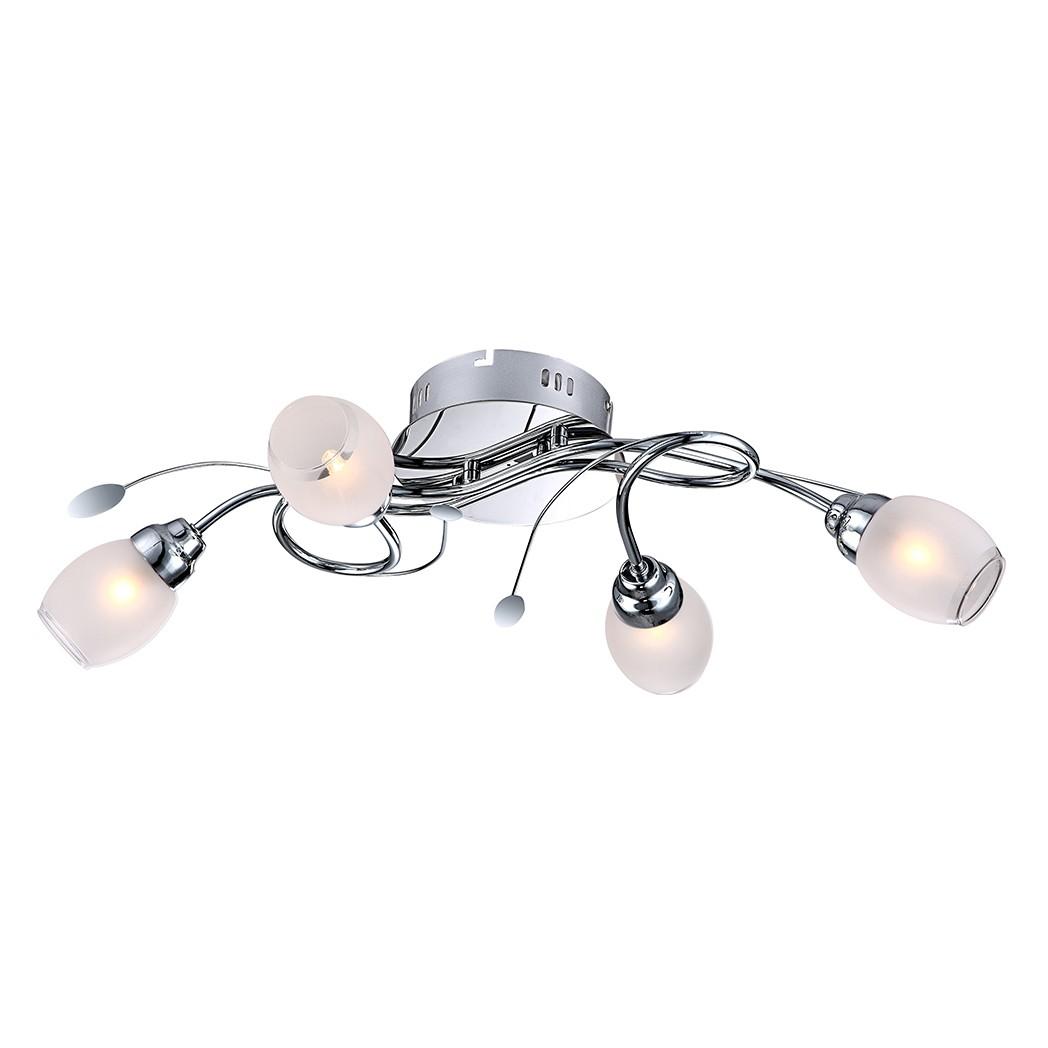 EEK A++, Deckenleuchte BILL I – Metall/Kunststoff – Silber – 4-flammig, Globo Lighting jetzt bestellen