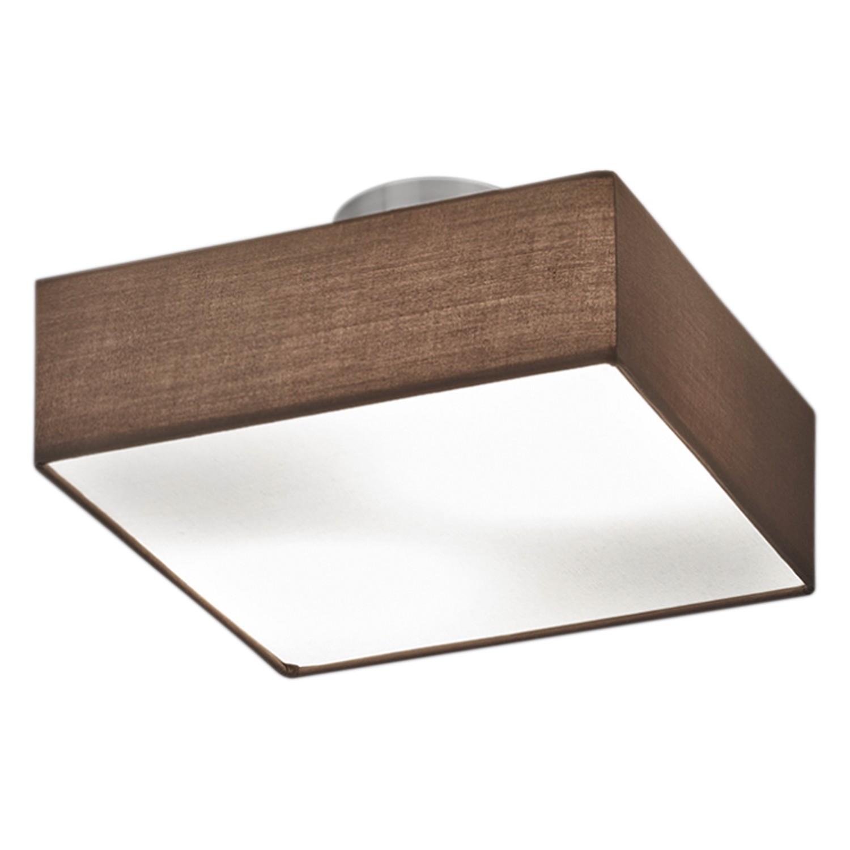 deckenleuchte shima iv webstoff metall 2 flammig braun wei lux a online kaufen. Black Bedroom Furniture Sets. Home Design Ideas